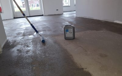 Dekvloer cement voor strijken