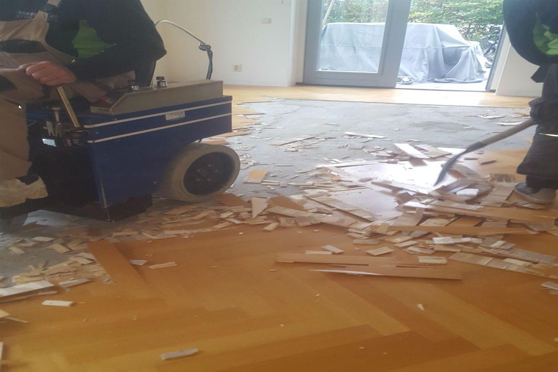 Bekend Parketvloer hersteld welke beschadigd was door lekkage door DF87