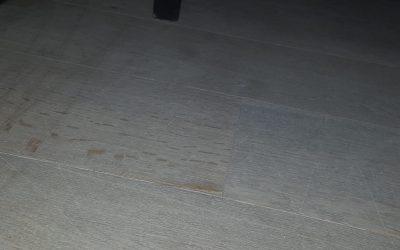 Vloerschade door schuiven